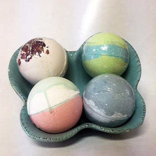 holiday bath bombs gift set