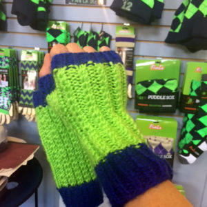 nfl football fans need fingerless gloves. For your beer.