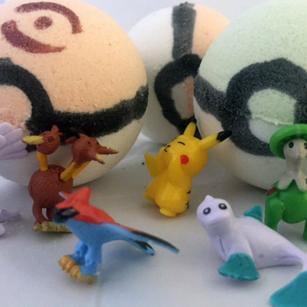 pokebombs bath bombs pokemon poke balls