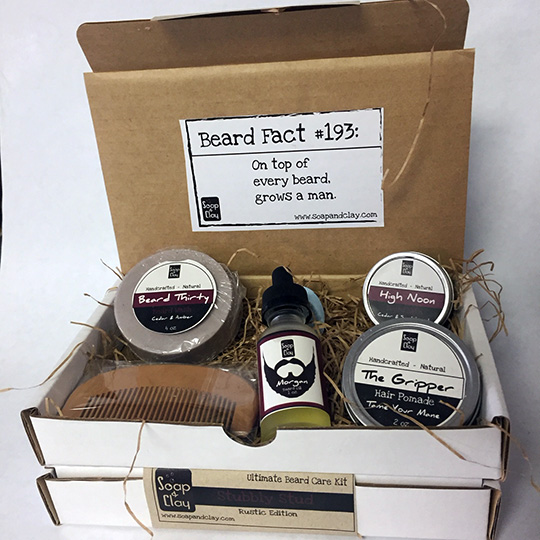 soap & clay beard kits gift sets for men