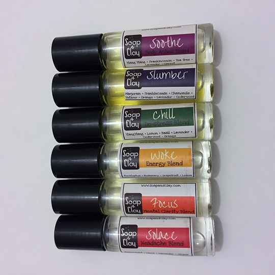 roller bottle essential oil blends 6 pack