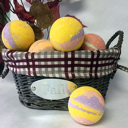 fall bath bombs