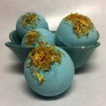 blue bombs calendula bath bomb